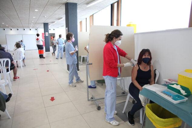 Imagen: Vacunación masiva en Xàbia