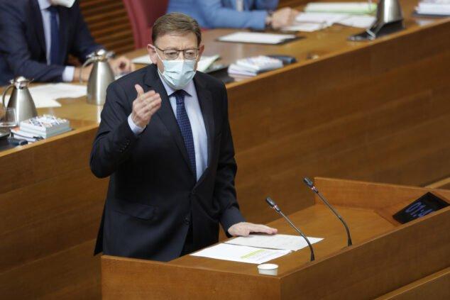 Imagen: Ximo Puig en la sesión de control