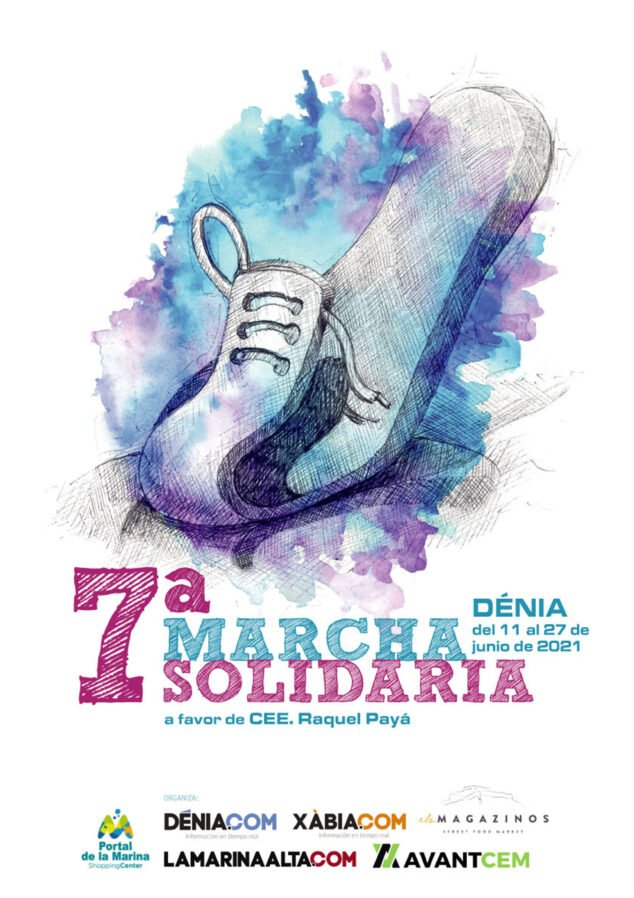 Imagen: Cartel de la 7ª Marcha Solidaria de Dénia