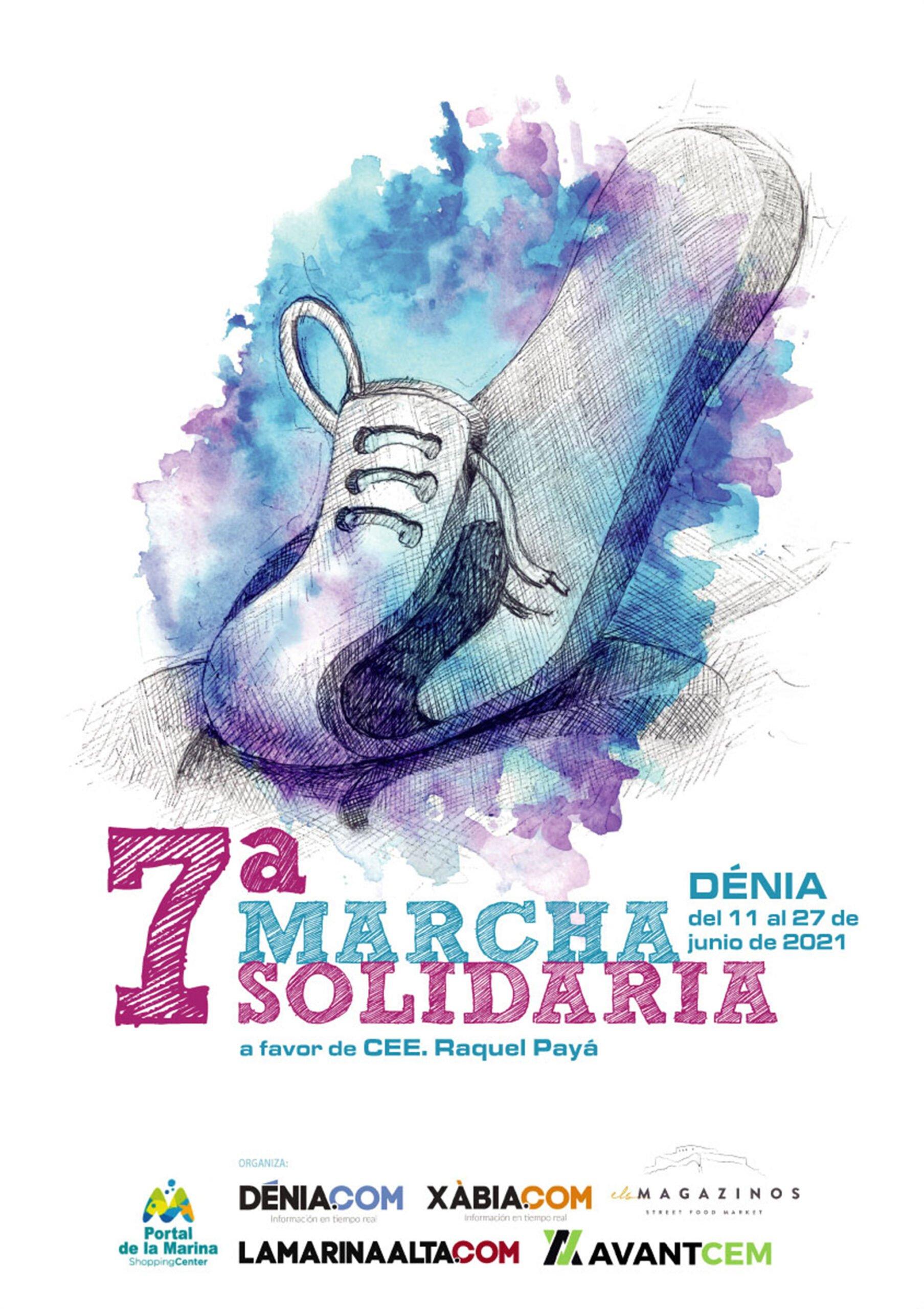 Cartel de la 7ª Marcha Solidaria de Dénia