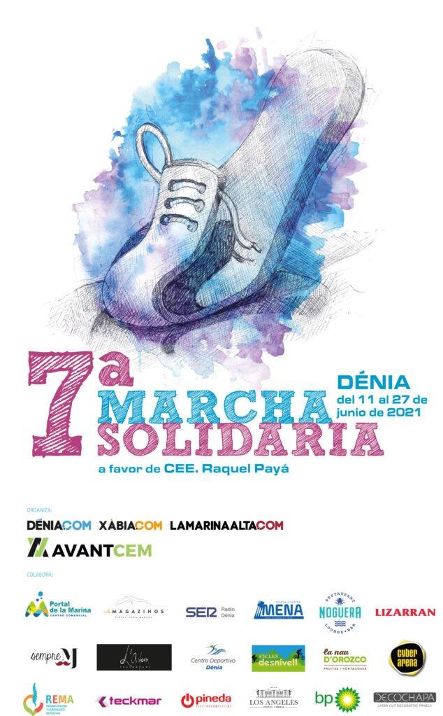 Imagen: Cartel de la Carrera Solidaria en favor del CEE Raquel Payà de Dénia