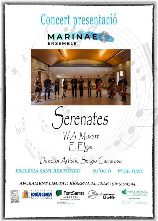Cartel concierto presentación de Marinae Ensemble
