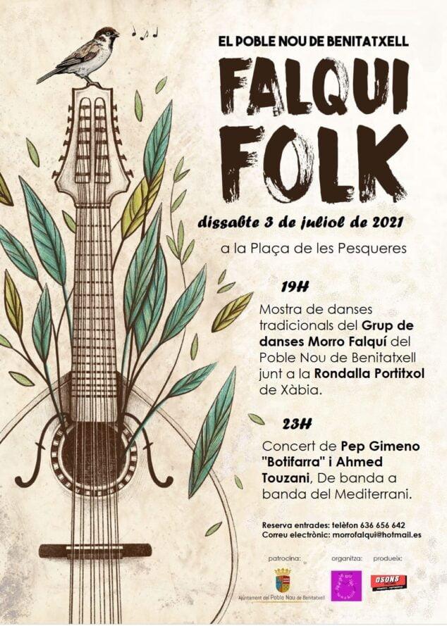 Imagen: Cartel del Falqui Folk 2021