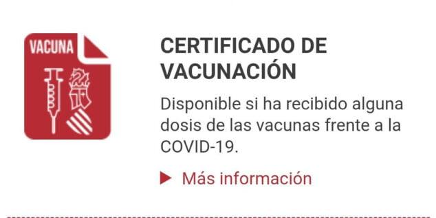 Imagen: Certificado COVID-19