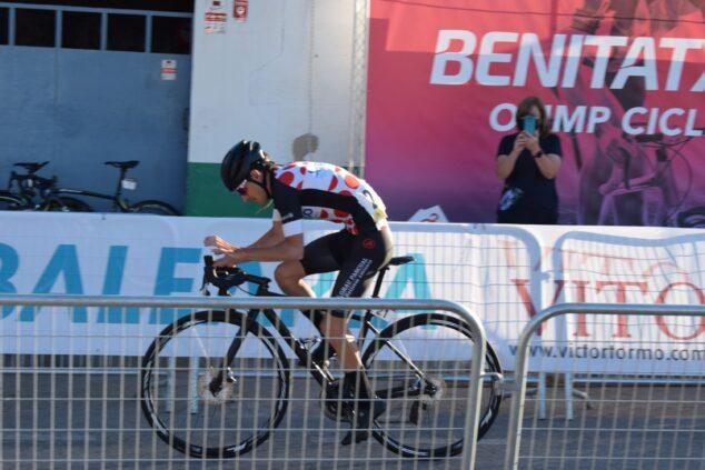 Imagen: Ciclista durante la cronoescalada