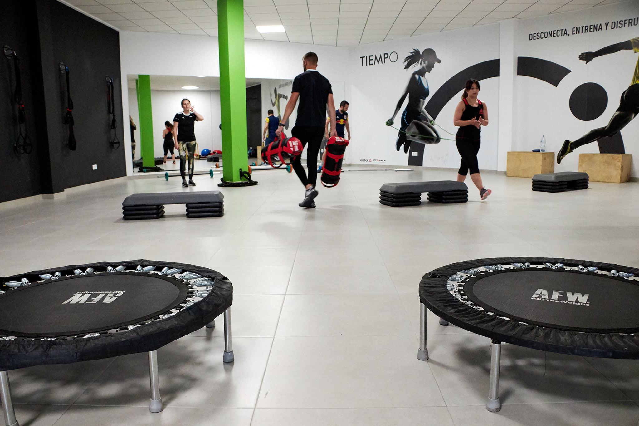 Distintas zonas de entrenamiento – Tiempo Personal Training Center