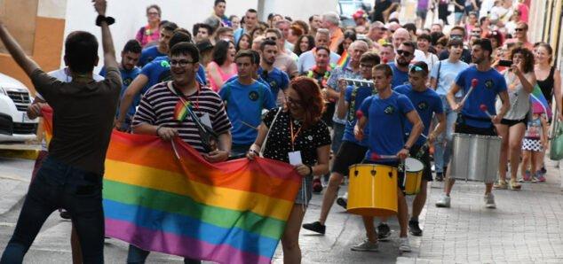 Imagen: Grupo de acción LGTB en el primer día del Orgullo