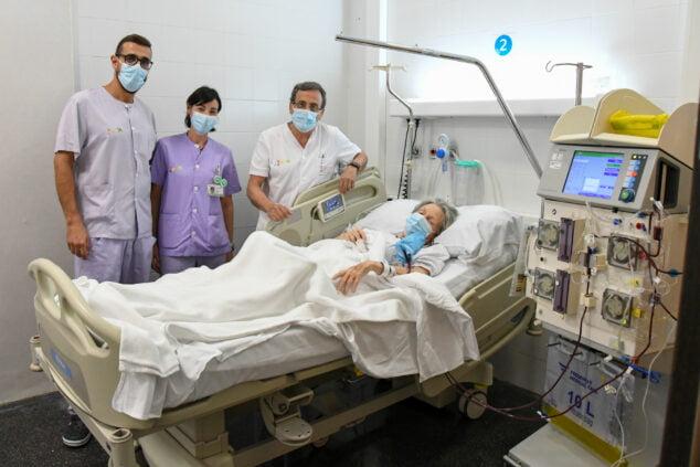 Imagen: Hemodiálisis plasmafedesis en el Hospital de Dénia