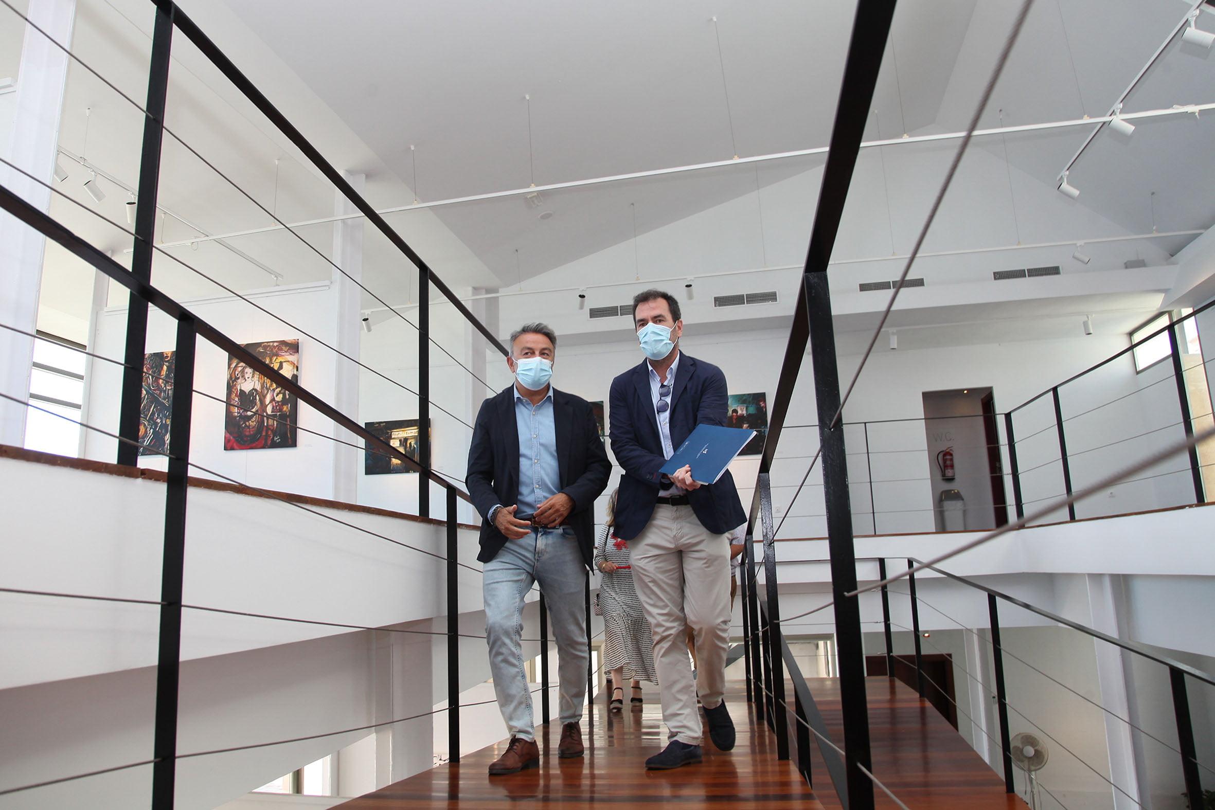Enrique Varela y José Chulvi en la Casa del Cable