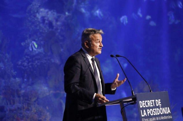Imagen: José Chulvi en la presentación del decreto de la Posidonia