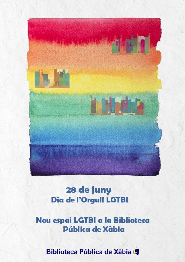 Imagen: Presentación del nuevo espacio LGTBI de la Bibliotecas de Xàbia