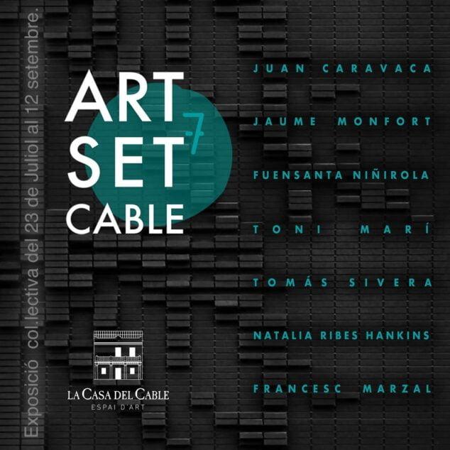 Imagen: Cartel de la exposición Art Set Cable