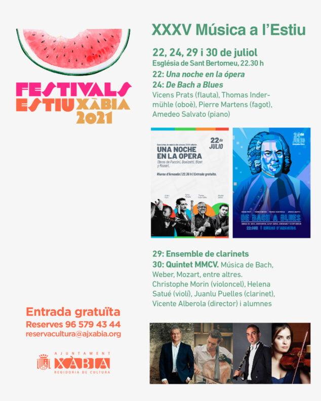 Imagen: Cartel de Musica a l'estiu 2021