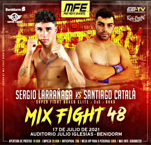 Imagen: Cartel del combate de Santi vs Sergio