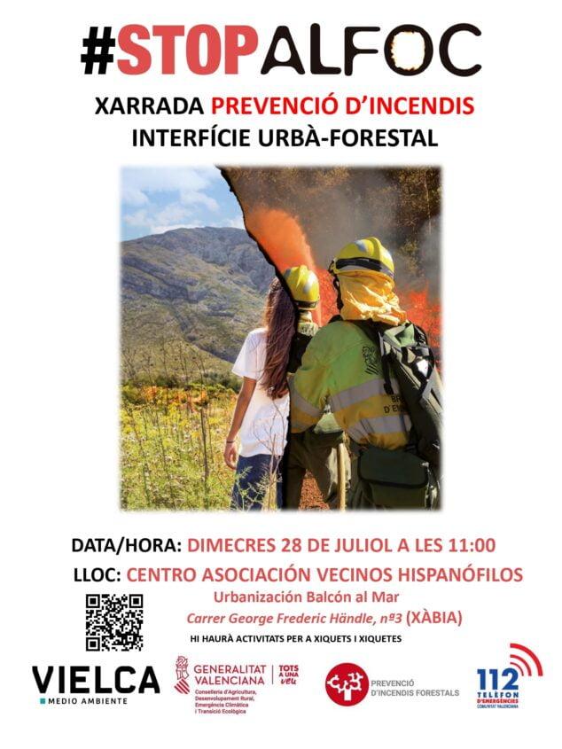 Imagen: Cartel jornada de prevención de incendios forestales