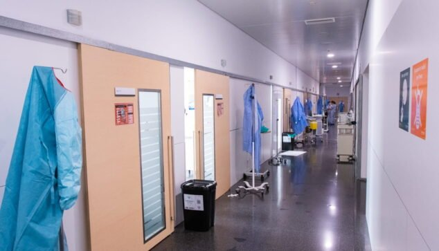 Imagen: Circuito específico de coronavirus en Urgencias del Hospital de Dénia