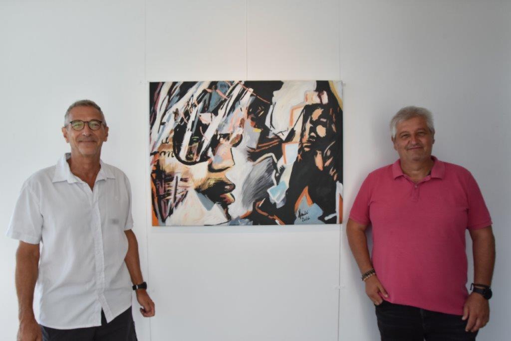 El artista Dider Henrad dona una de sus obras al Ayuntamiento de Xàbia