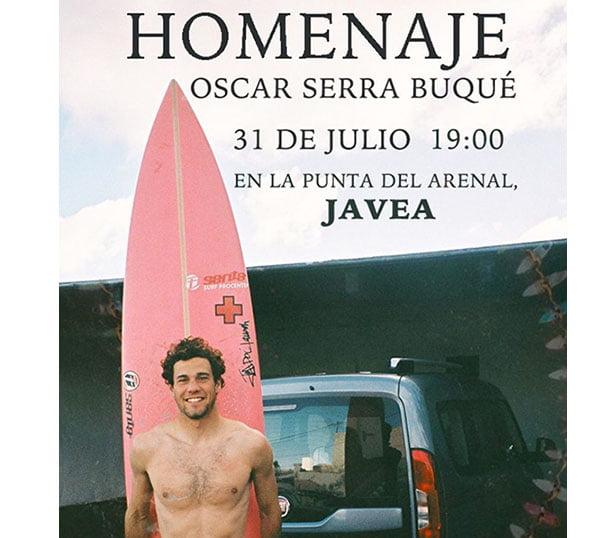 Homenaje al surfista en Xàbia