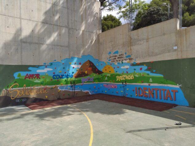 Imagen: Mural del IES Antoni Llidó de Xàbia