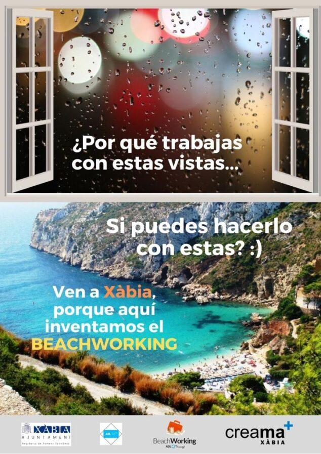 Imagen: Nueva campaña Beachworking de Xàbia