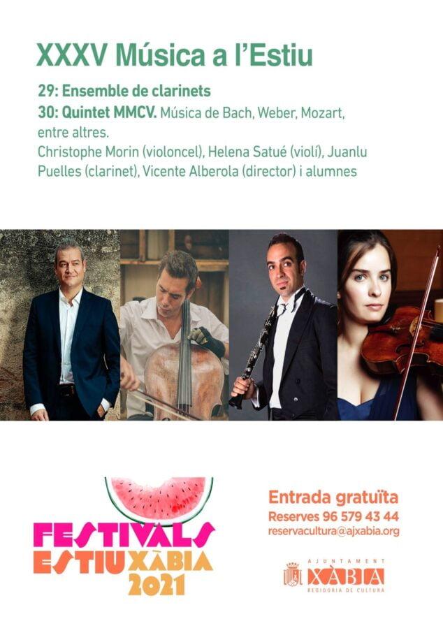 Imagen: Programa de Música a l'Estiu en Xàbia