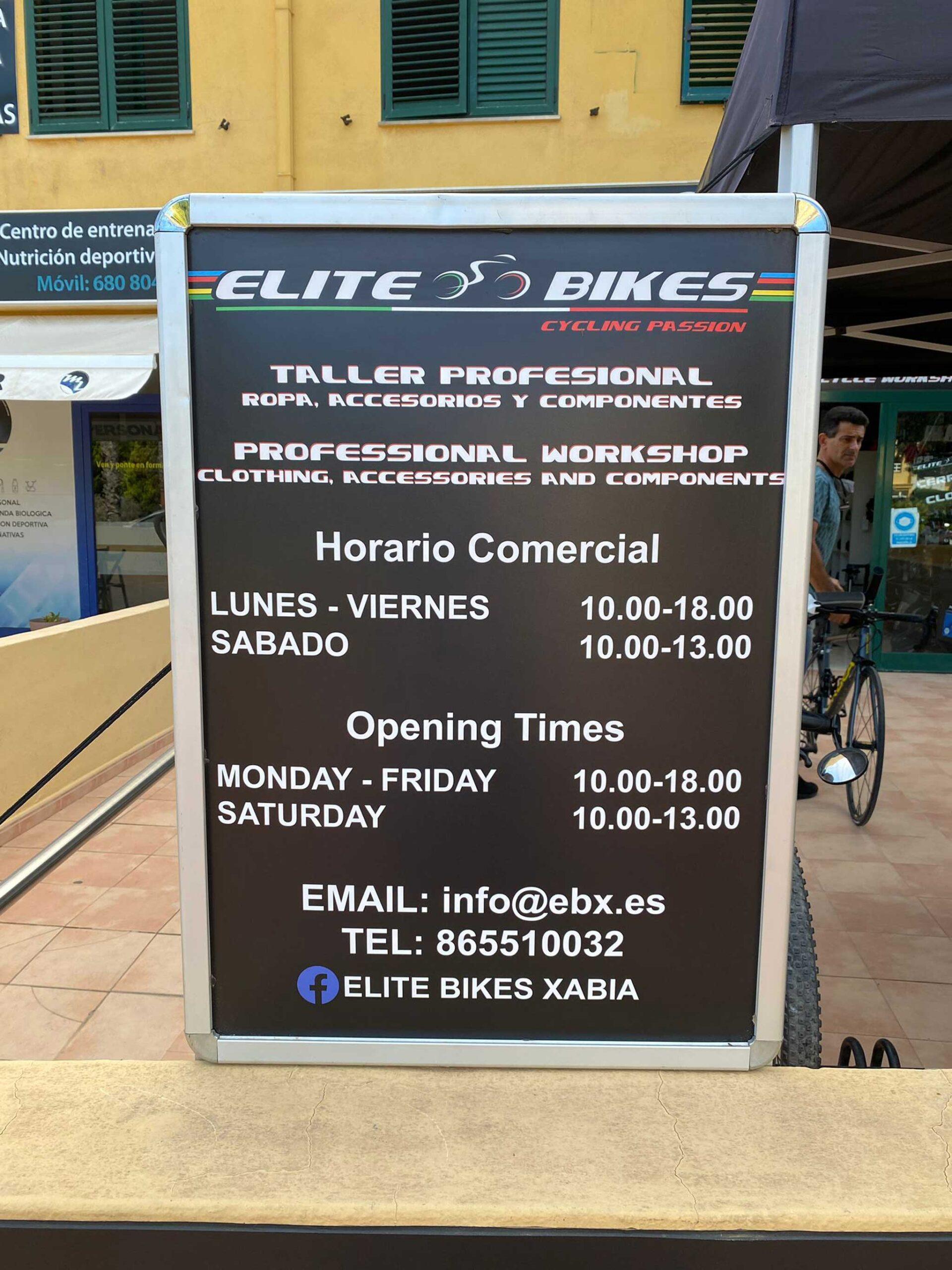 Reparar bicicleta en Jávea – Elite Bikes
