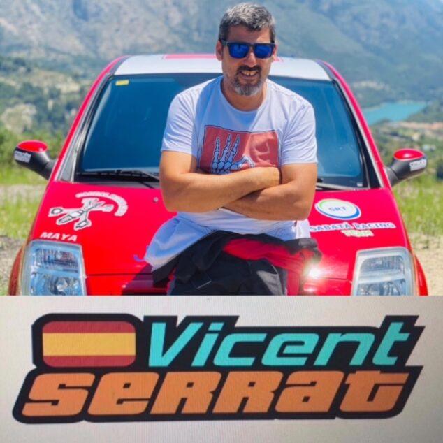 Imagen: Vicent Serrat, piloto de automovilismo de Xàbia