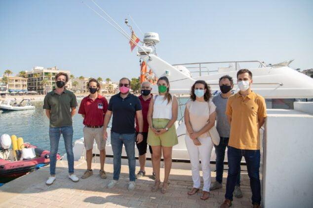 Imagen: Visita de la consellera al Servicio de Vigilancia de las Baleares