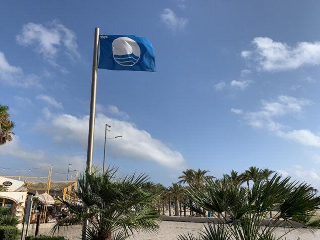 Imagen: Bandera azul en la playa del Arenal