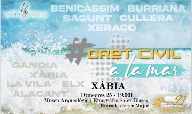 Imagen: Cartel de la conferencia 'Dret a la Mar'