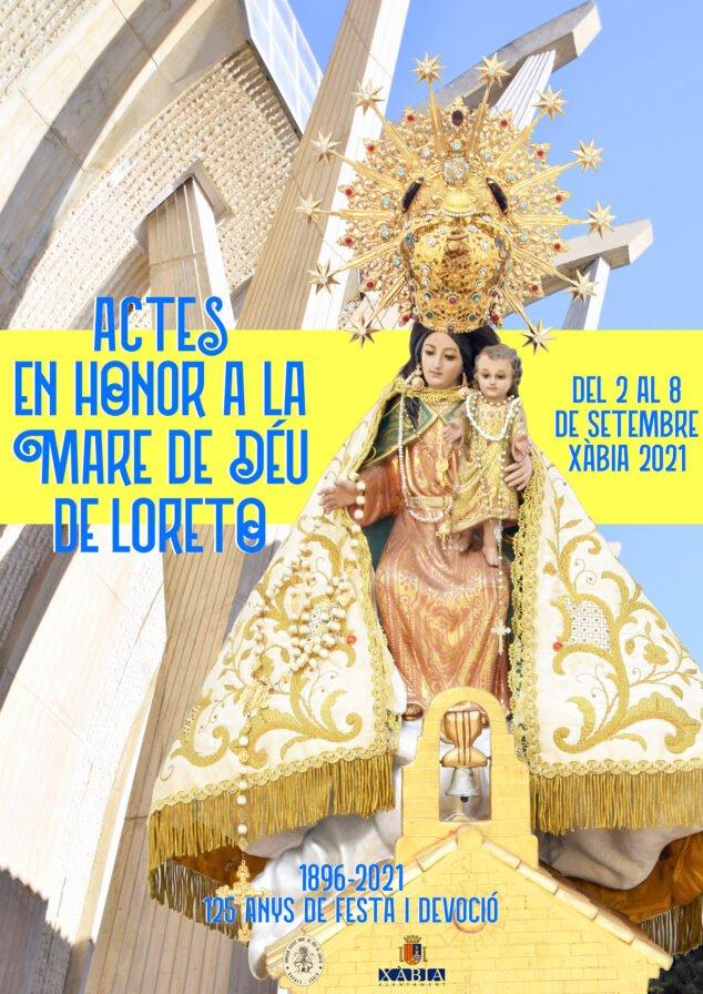 Imagen: Cartel actos Mare de Déu de Loreto 2021