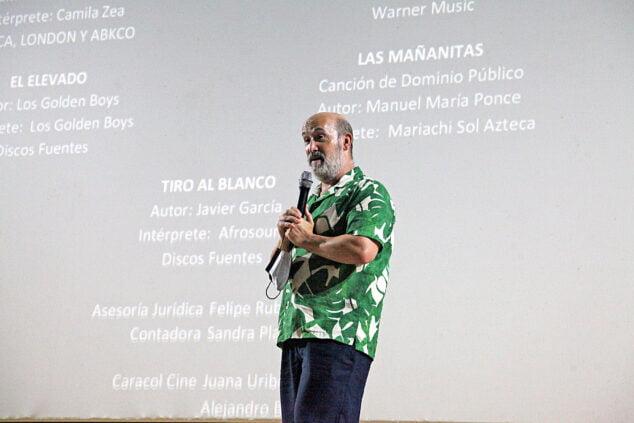 Imagen: Javier Cámara en la presentación de 'El olvido que seremos'en el Cine Jayan de Xàbia