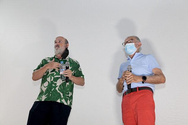 Imagen: Javier Cámara y Antonio Catalá en el Cine Jayan