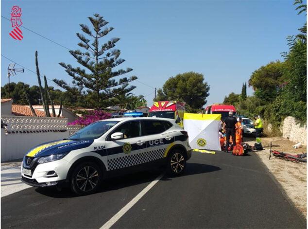Imagen: Lugar del accidente del ciclista