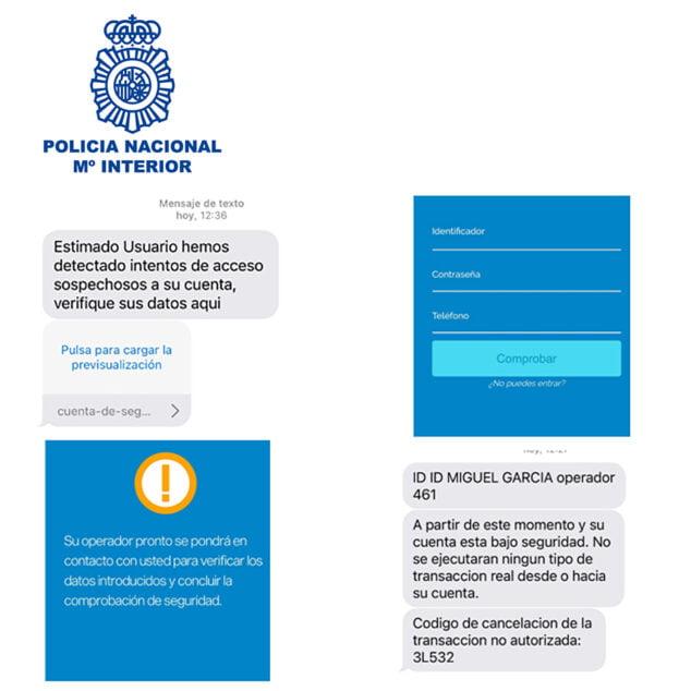 Imagen: Policía Nacional alerta de una modalidad de fraude