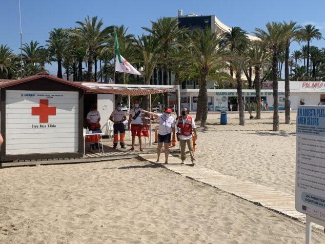 Imagen: Puesto de socorro en la playa del Arenal