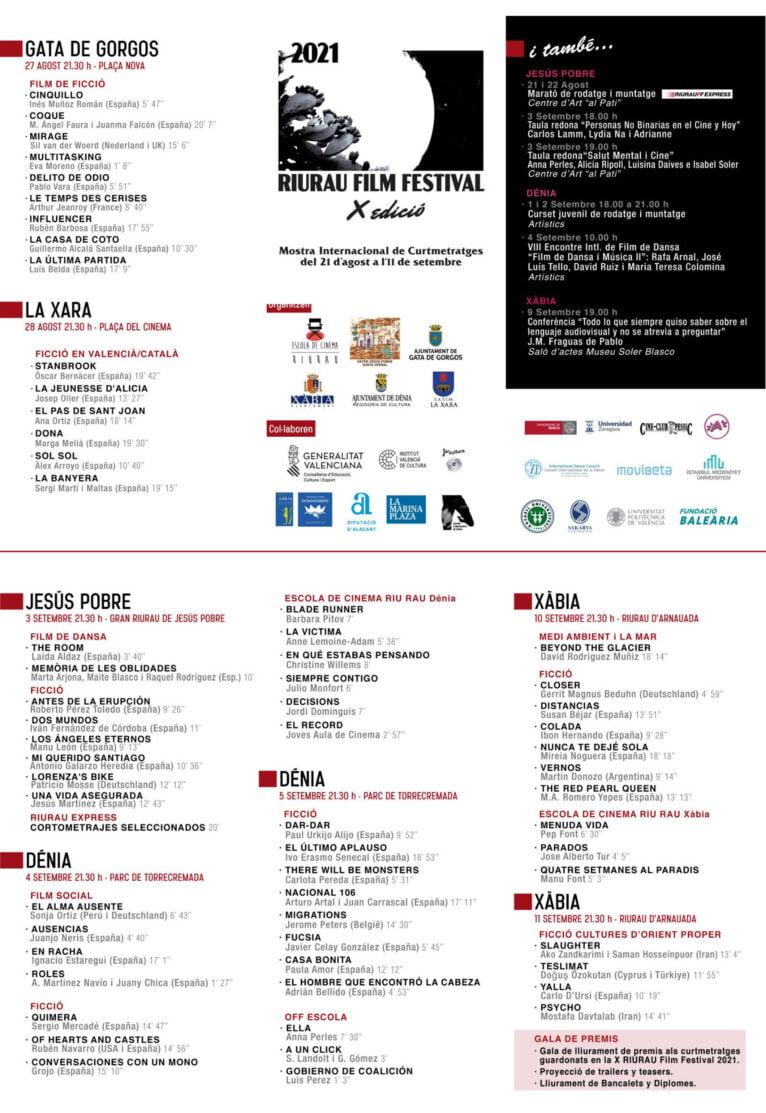 Riurau Film Festival Programación