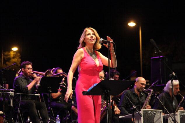 Imagen: Sedajazz y Sole Giménez durante el concierto de XàbiaJazz 2021