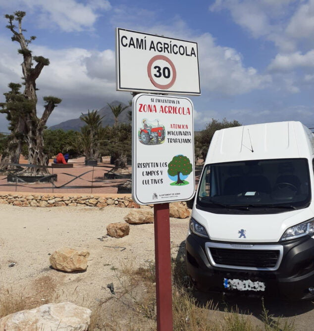 Imagen: Señalización agrícola en Xàbia