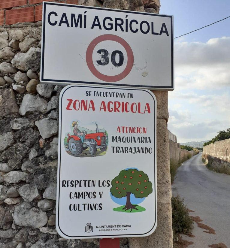 Señalización agrícola Xàbia