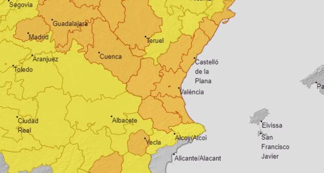 Imagen: Alerta amarilla por tormenta
