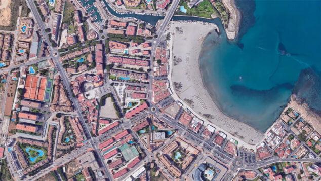 Imagen: Barrio del Arenal de Xàbia desde arriba