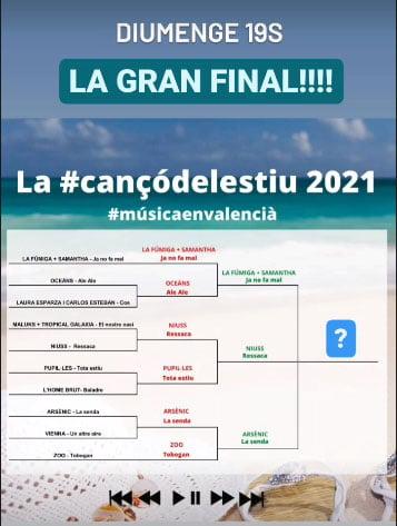 Cartel de la gran final de la Cançó de l'Estiu en valencià 2021