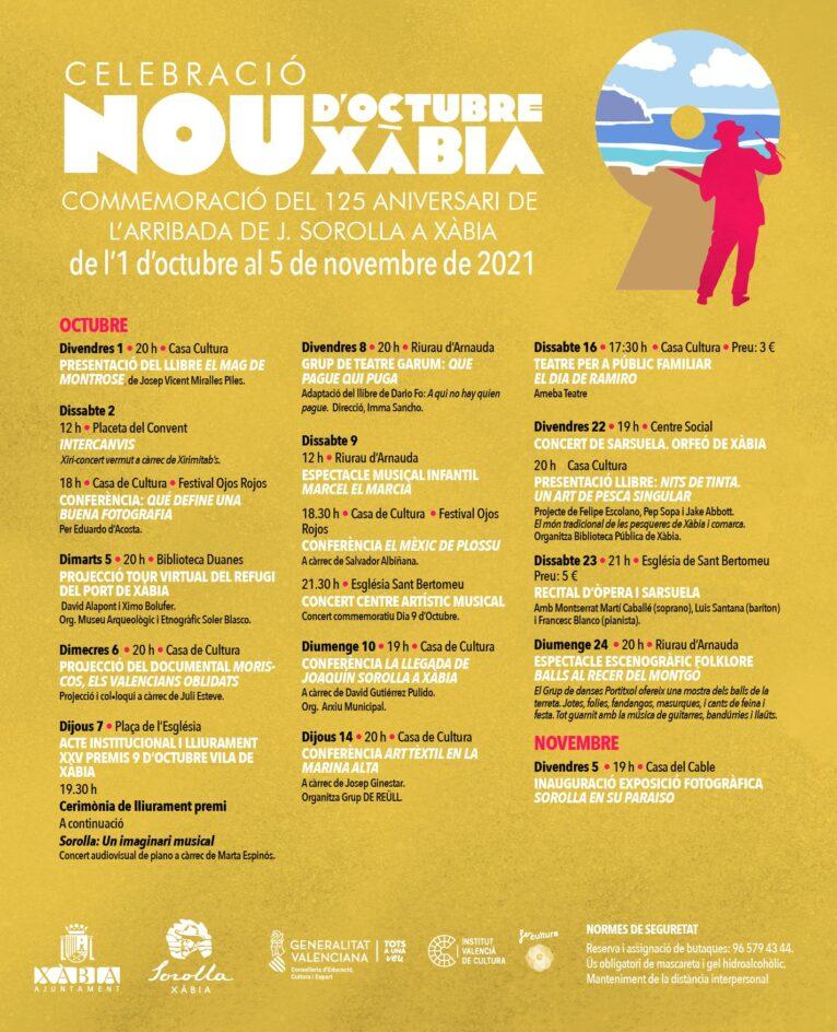 Cartel de la programación 9 octubre 2021