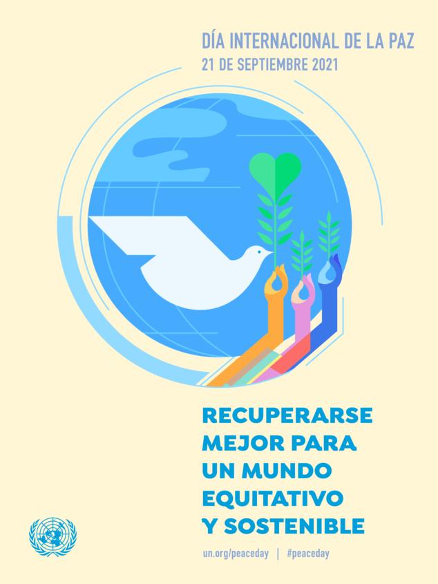 Imagen: Cartel día de la Paz 2021