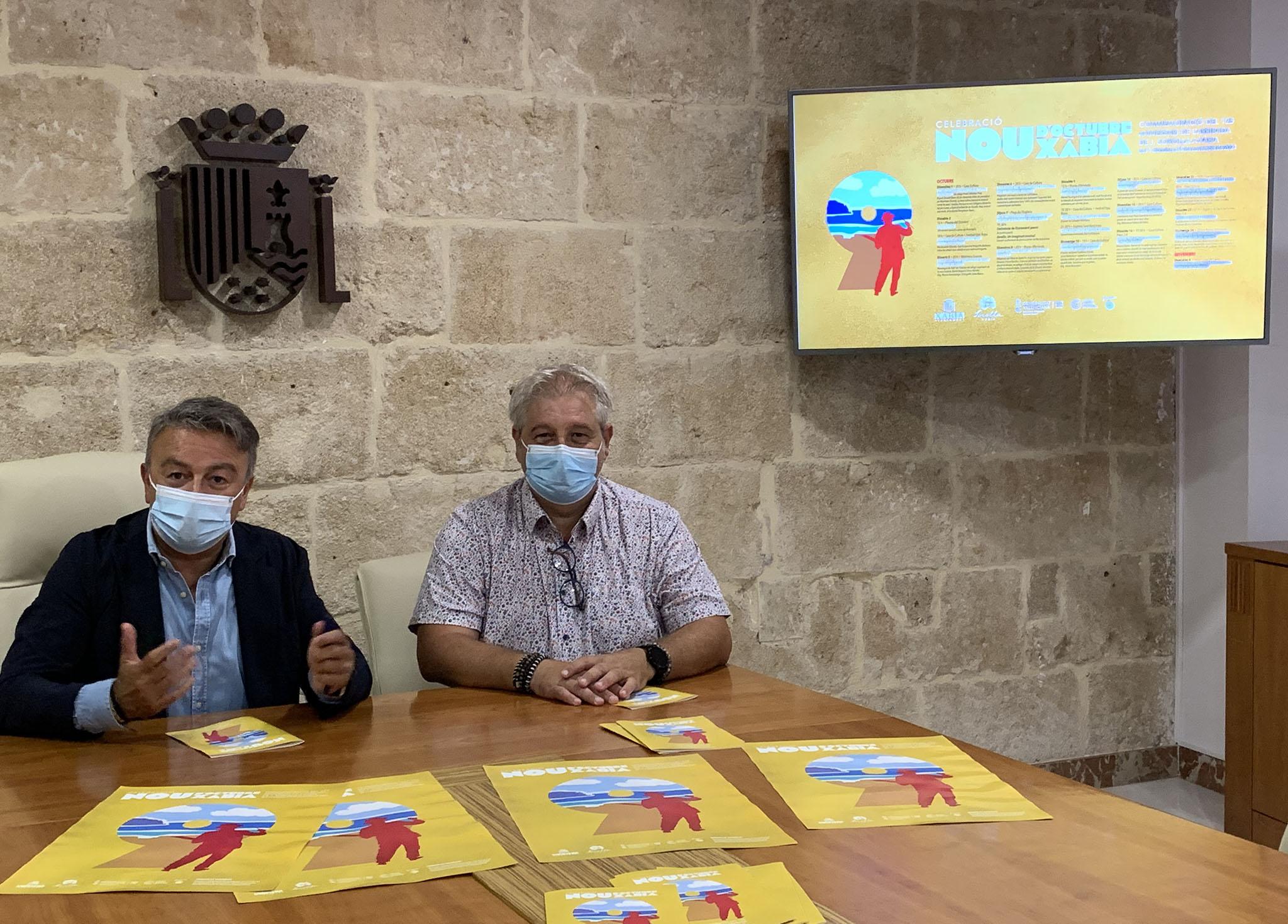 El alcalde, José Chulvi y el concejal de Cultura, Quico Moragues