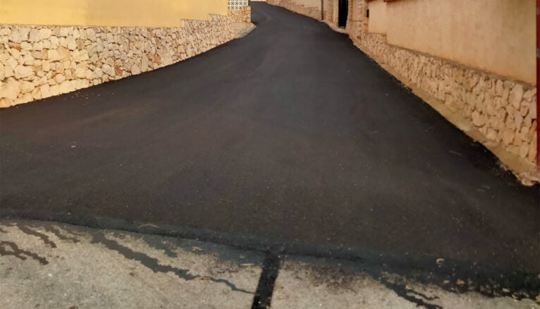 El plan de asfaltado de Xàbia empieza en el área del Cap de la Nao