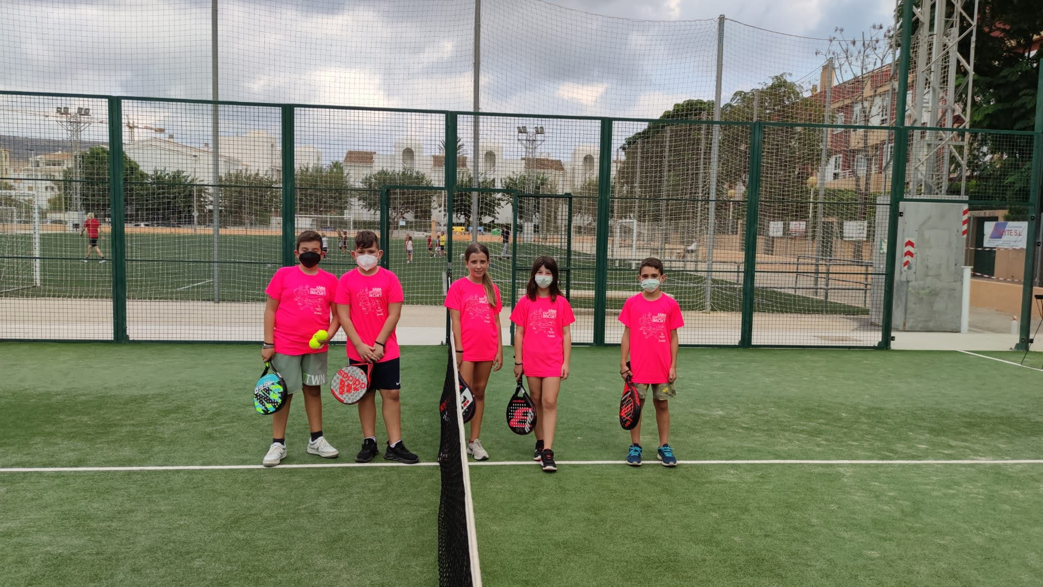 Alumnos de padel en Escoles Esportives Municipals