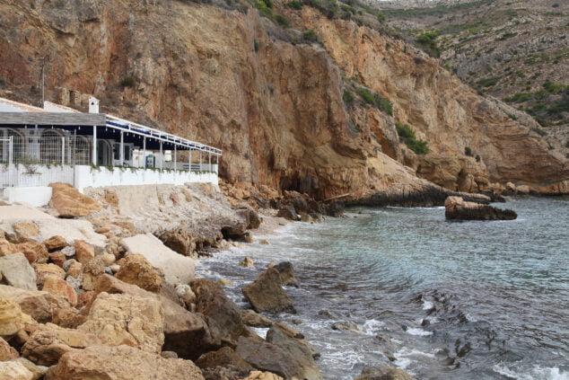 Imagen: Estado del talud el cual está previsto reconstruir