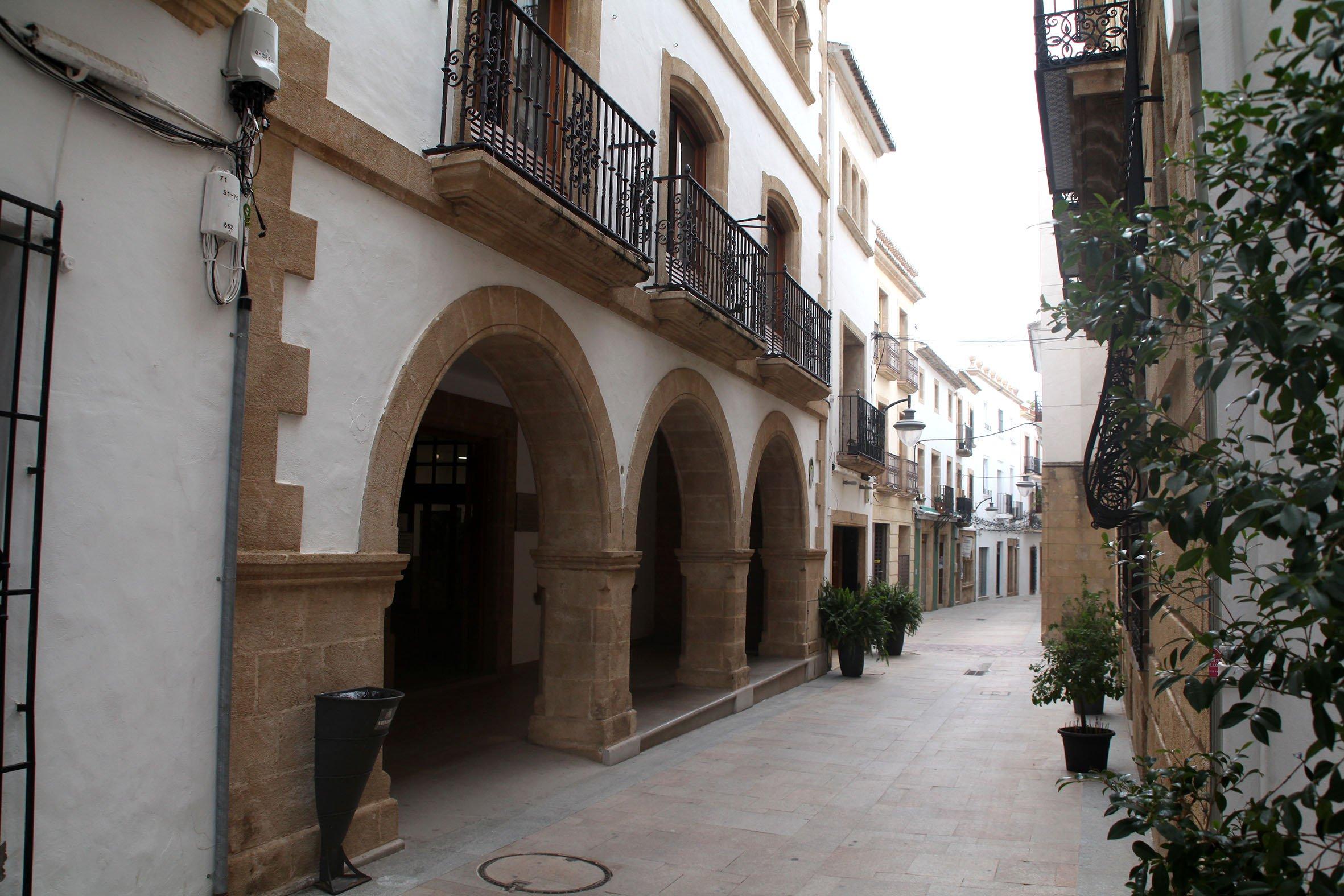 Fachada de la Biblioteca del centro histórico